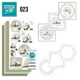BASTELSETS / CRAFT KITS Bordürenset, Stitch and Do: Winterland