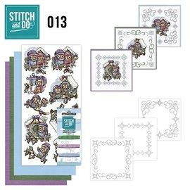 BASTELSETS / CRAFT KITS Kit de costura, Stitch and Do: caixas de pássaros