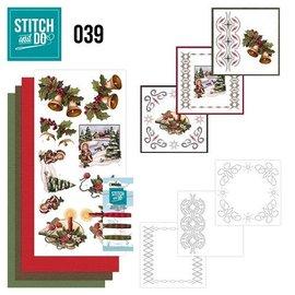 BASTELSETS / CRAFT KITS Kit de costura, Stitch and Do: Saudações de Natal