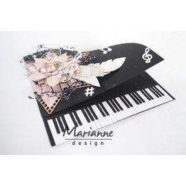 Marianne Design Taglio e goffratura modelli: Pianoforte