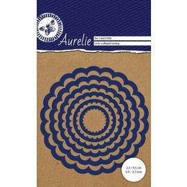 AURELIE Taglio e goffratura modelli: Scalloped Circle Die Nesting