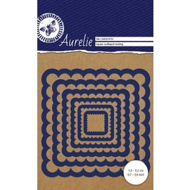 AURELIE AURELIE, Cutting and embossing die: Square Scalloped Nesting