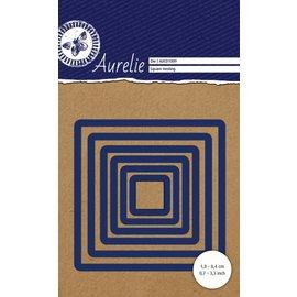 AURELIE Skæring og prægning skabeloner: firkanter