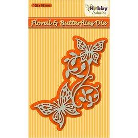 Nellie Snellen Corte e gravação em relevo modelos: Floral & borboletas