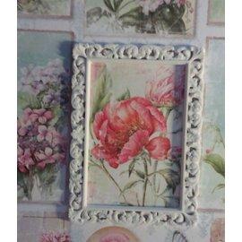 MIXED MEDIA NIEUW! Mixed Media decoratieve frame met reliëfstructuur! Format sierlijst: 7 x 10 cm