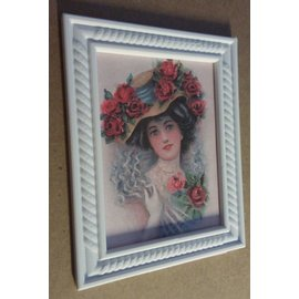 MIXED MEDIA NEW! Mixed Media mini picture frame, decorative frame with relief structure!