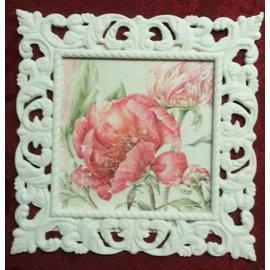 Crafts24 NUOVO! Supporti cornice decorativa mista con struttura in rilievo! Formato cornice decorativa rettangolo