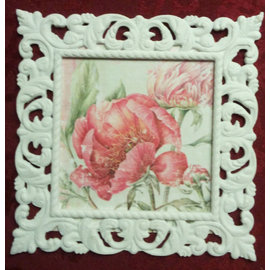 MIXED MEDIA NEW! Mixed media decorative frame with relief structure! Format decorative frame square