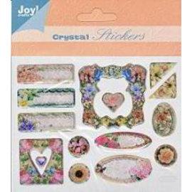 Embellishments / Verzierungen crystal 3D stickers, 15 motifs