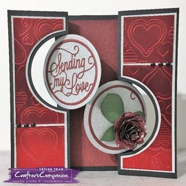 Die'sire cutting and embossing Stencil: Die'sire Create a Card Metal The - Circle Swing Base