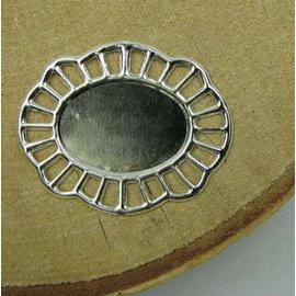 Embellishments / Verzierungen 2 metalstel, dekorative ramme, 43 x 35 mm
