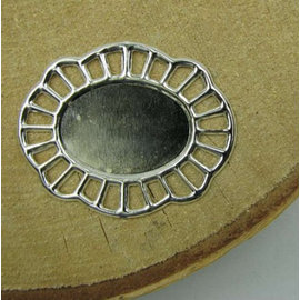 Embellishments / Verzierungen 2 telai metallici, cornice decorativa, 43 x 35 mm
