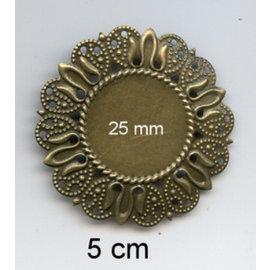 Embellishments / Verzierungen 2 metalstel, dekorative ramme, 50 mm og 25 mm indre