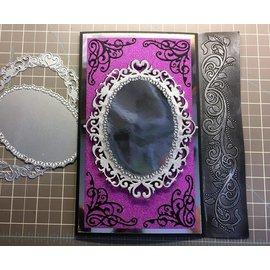 Die'sire cutting en embossing die: Sara Signature Collection Glamor Metal Stencils, Venetian Mirror