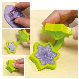 VIVA DEKOR (MY PAPERWORLD) Viva decoração, Clematis de molde de silicone com dois cortadores, cerca de 4 cm Ø