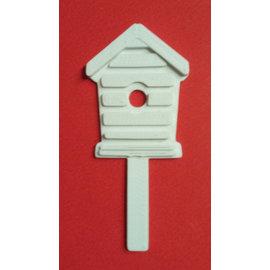 MIXED MEDIA NOVO! motif meios mistos com estrutura de relevo, Birdhouse