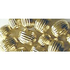 Schmuck Gestalten / Jewellery art Smykkekunst riller perler, guld, 8mm