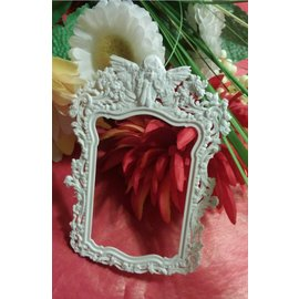 MIXED MEDIA NEW! Mixed media motif with relief structure, decorative frame with angel