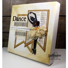 Spellbinders und Rayher Corte e gravação em relevo, pequenas bailarinas