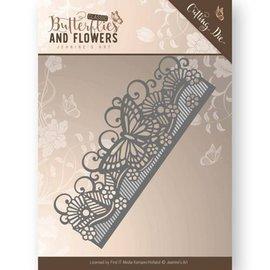 JEANINES ART (NEU) Matrizes de corte e agasalho: Fronteira de borboletas e flores