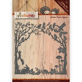 Yvonne Creations Cutting and embossing template, decorative frame, size: approx. ca. 13 x 12,5 cm