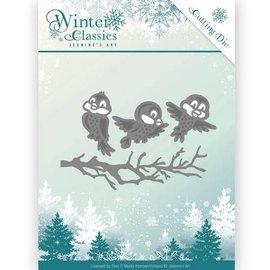 JEANINES ART (NEU) Decalques de corte e estampagem, Clássicos de inverno - Pássaros de inverno