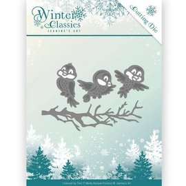 JEANINES ART (NEU) Snij- en embossing Sjablonen, Winter Classics - Winter birds