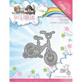Yvonne Creations Découpage et gaufrage Matrices: Vélo d'enfant, taille environ 5,1 x 5,1 cm
