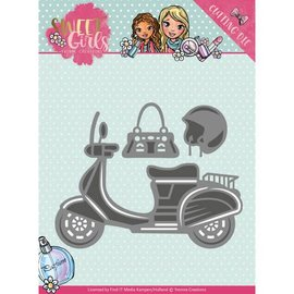 Yvonne Creations Taglio e goffratura Dies: Sweet Girls - Scooter