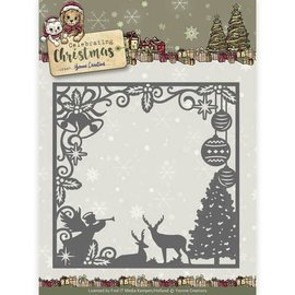 Yvonne Creations Yvonne Creations, Cutt and emboss Stencil, Traditional Christmas, frame