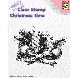 Nellie Snellen selos transparentes, Nellie Snellen, guirlanda de Natal com velas
