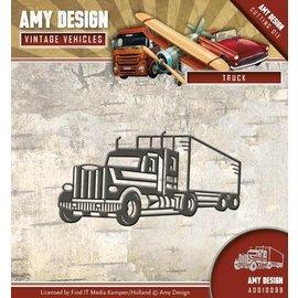 AMY DESIGN Snij- en Embossing Sjablone: truck
