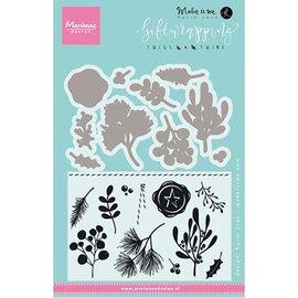 Marianne Design SET: 10 Stanzschablonen + 11 Stempel, Pflanzen