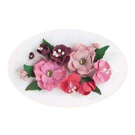 Leane Creatief - Lea'bilities und By Lene Set 5, rouge - couleur rose: mousse assortiment de feuilles + Guide