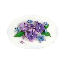 Leane Creatief - Lea'bilities und By Lene Set 2, couleur bleu-violet: assortiment de feuille de mousse + Guide