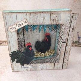 Leane Creatief - Lea'bilities und By Lene Snij- en embossing sjabloon: Haan en kip
