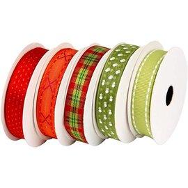 DEKOBAND / RIBBONS / RUBANS ... strap motivo definir vermelho-verde, 5 x 2 metros