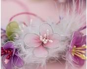 Estambre, perlas, broches y otros adornos