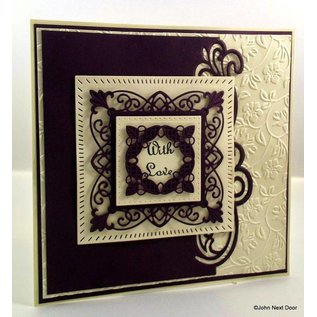 CREATIVE EXPRESSIONS und COUTURE CREATIONS Stempelen en embossing stencil, New York Collection, edel kader rechthoek