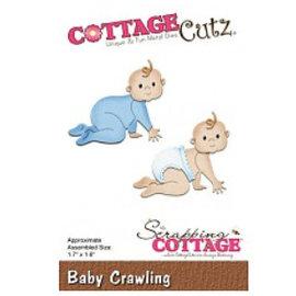 Cottage Cutz Corte e gravação em relevo: Baby Crawling