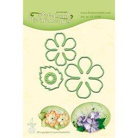 Leane Creatief - Lea'bilities und By Lene Stanzschablonen, Cutting en embossing: Blumen