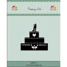 Die'sire cutting and embossing templates: wedding Cake