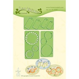 Leane Creatief - Lea'bilities cutting and embossing templates: Little Banners & Labels