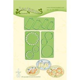 Leane Creatief - Lea'bilities modelli di taglio e goffratura: Little Banners & Labels
