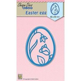 Nellie Snellen stampi di taglio: Uovo di Pasqua