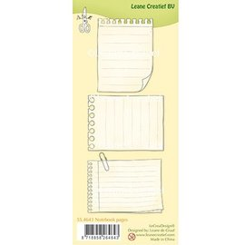 Leane Creatief - Lea'bilities und By Lene Transparent frimærke, Notebook sider