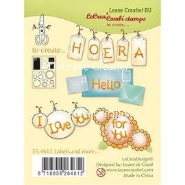 Leane Creatief - Lea'bilities und By Lene Gennemsigtigt frimærke, Etiketter og meget mere