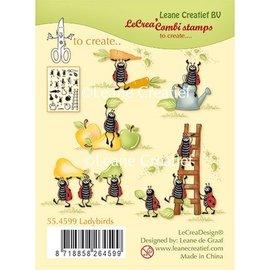 Leane Creatief - Lea'bilities Timbro trasparente, Coccinelle