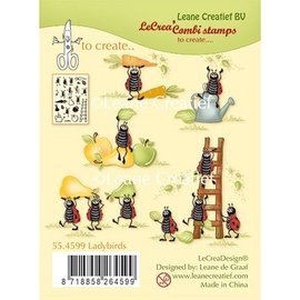 Leane Creatief - Lea'bilities und By Lene Transparent stamp, Ladybugs