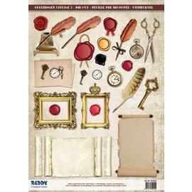 Stanzbogen mit Accessoires aus Kartenkarton, Format A4